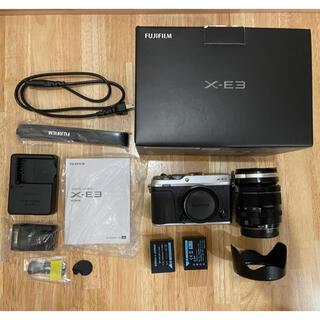 富士フイルム - X-E3 XF18-55mm 富士フイルム 予備バッテリー×2、サムレスト付