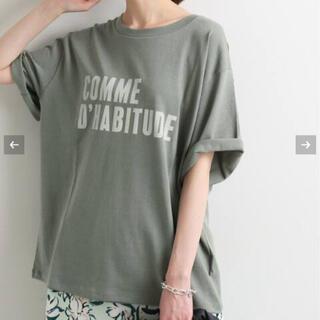 IENA - IENA COMME DHABITUDE Tシャツ 新品 カーキA