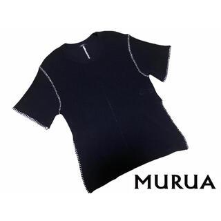 ムルーア(MURUA)のMURUA   トップス Tシャツ ネイビー(Tシャツ(半袖/袖なし))