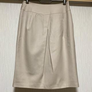 ストロベリーフィールズ(STRAWBERRY-FIELDS)のストロベリーフィールズ ウール素材の素敵なタイトスカート 日本製(ひざ丈スカート)