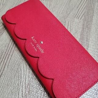 kate spade new york - 美品☆ケイトスペード☆kate spade スカラップ長財布 レッド