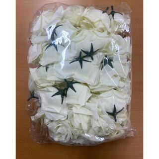 造花 バラ (白 ホワイト)(その他)