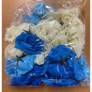造花 バラ (ブール  ライトブルー ホワイト)(その他)