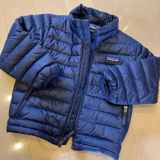 パタゴニア(patagonia)の未使用に近い美品パタゴニア ダウンジャケット3Tネイビー100cm(ジャケット/上着)