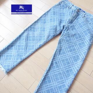 バーバリーブルーレーベル(BURBERRY BLUE LABEL)の美品 36(S位) バーバリーブルーレーベル クロップドデニム(デニム/ジーンズ)
