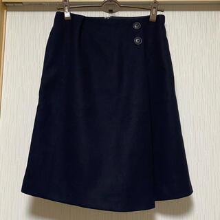 ロペピクニック(Rope' Picnic)のロペピクニック ボタンデザイン冬スカート(ひざ丈スカート)
