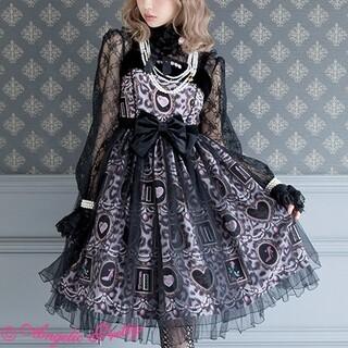 Angelic Pretty - girly leopardジャンパースカート グレー