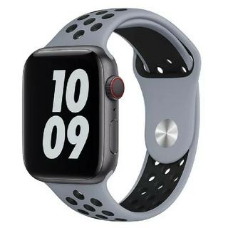 Apple Watch スポーツ バンド 42/44mm ブルーグレー/ブラック(その他)