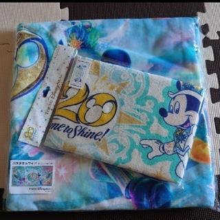 Disney - ディズニーシー20周年バスタオル ディズニーシー20周年フェイスタオル