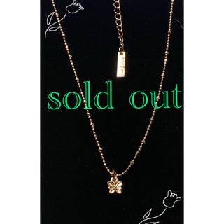 アナスイ(ANNA SUI)のANNA SUI  ピンクゴールド色のネックレス(ネックレス)