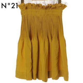 ヌメロヴェントゥーノ(N°21)のN21 numero ventuno フリル重ね着風スカート(ひざ丈スカート)