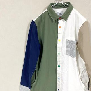ジムマスター(GYM MASTER)のシャツ ワンピース ジムマスター スナップボタン オリーブクレイジー 2way(シャツ/ブラウス(長袖/七分))
