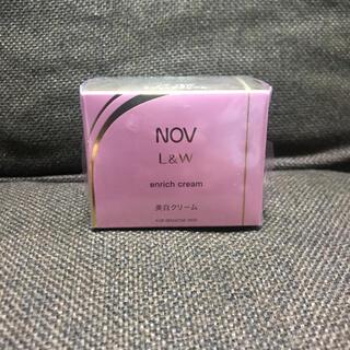 ノブ(NOV)の新品 ノブ NOV L&Wエンリッチクリーム  値引き不可  美白クリーム(フェイスクリーム)