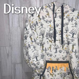 Disney - ディズニー くまのプーさん プルオーバーパーカー 総柄 大きめサイズ