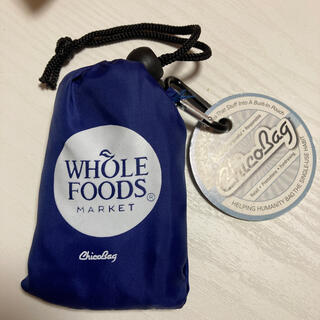 WHOLE FOODS新品エコバック 青chicobag