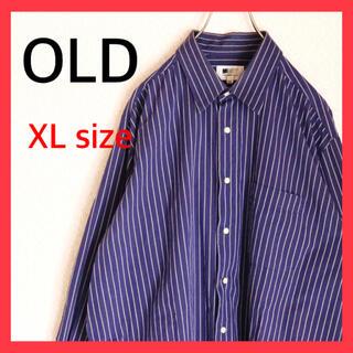 Santa Monica - 古着 OLD USED ストライプシャツ 長袖 オーバーサイズ 90s デザイン