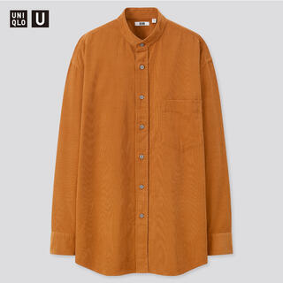 UNIQLO - UNIQLO U コーデュロイワイドフィットスタンドカラーシャツ