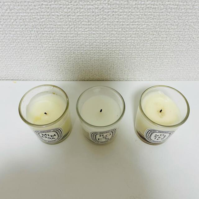 diptyque(ディプティック)のdiptyque ミニキャンドル 3点セット コスメ/美容のリラクゼーション(キャンドル)の商品写真