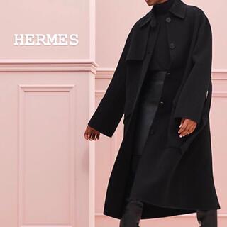 エルメス(Hermes)の新品 HERMES カシミヤ コート(ロングコート)
