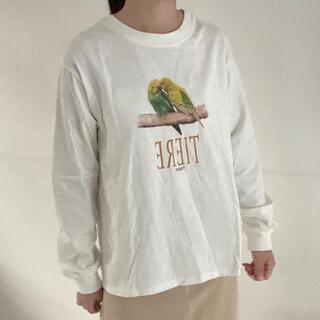 ウィゴー(WEGO)の鳥の長袖Tシャツ(Tシャツ(長袖/七分))