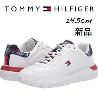 TOMMY HILFIGER - 新品 スニーカー TOMMY HILFIGER トミーヒルフィガー ホワイト 白