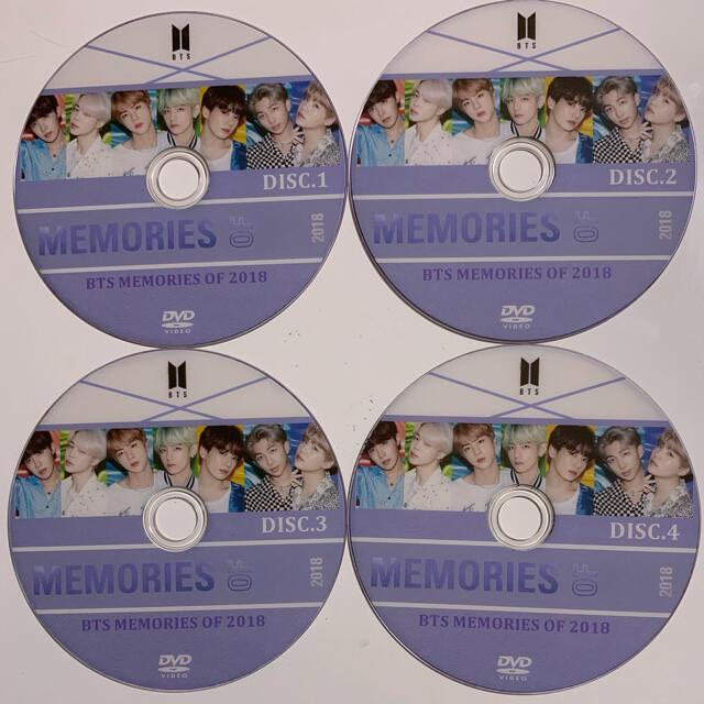 防弾少年団(BTS)(ボウダンショウネンダン)のBTS DVD MEMORIES OF 2018 4枚組 エンタメ/ホビーのCD(K-POP/アジア)の商品写真