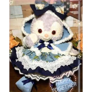 ステラルー(ステラ・ルー)のステラルー  S 紺花柄ワンピース 6点コスチューム ケープ クッキーアンにも(ぬいぐるみ)