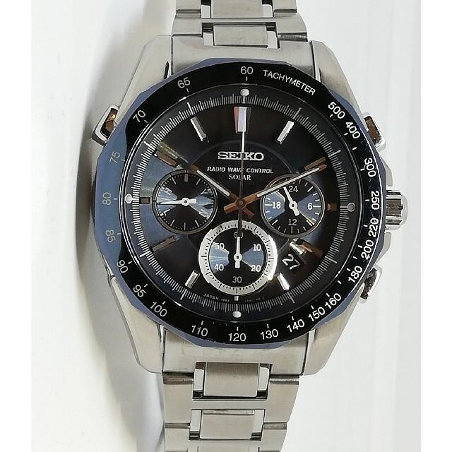 SEIKO(セイコー)のセイコー ブライツ 電波ソーラー クロノグラフ 軽量チタン フルオートカレンダー メンズの時計(腕時計(アナログ))の商品写真