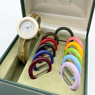 Gucci - 良品☆GUCCI チェンジベゼル 新品電池 レディース腕時計