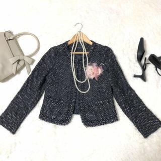 ビームス(BEAMS)の【S相当】ラピスルーチェパービームス ジャケット& 自由区 スカート 黒(スーツ)