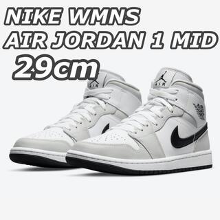 NIKE - NIKE WMNS AIR JORDAN 1 MID GREY 29cm
