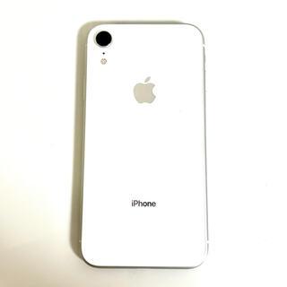 iPhone - iPhoneXR 128GB ホワイト 国内版simフリー 中古