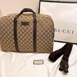 Gucci - GUCCI ボストン バッグ GGキャンバス