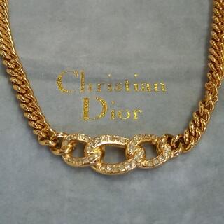 Christian Dior - クリスチャンディオール ラインストーン ネックレス Christian Dior