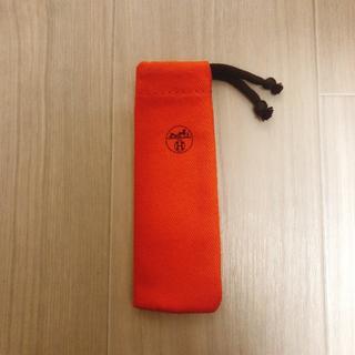 エルメス(Hermes)のHERMES エルメス 香水保存袋 布袋 巾着袋 携帯ケース(ポーチ)