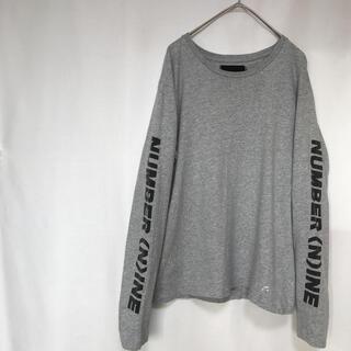 ナンバーナイン(NUMBER (N)INE)のNUMBER(N)INE DENIM ナンバーナイン  ロンT 袖ロゴ M(Tシャツ(長袖/七分))