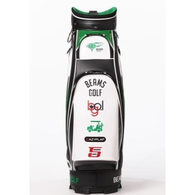 BEAMS(ビームス)のBEAMS GOLF / new ツアー プロ キャディバッグ ブラックグリーン スポーツ/アウトドアのゴルフ(バッグ)の商品写真