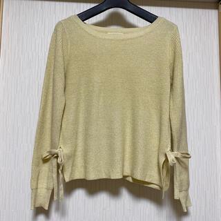テチチ(Techichi)のテチチ ラメ入り裾リボンニット(ニット/セーター)