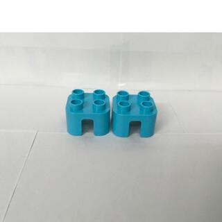 レゴ(Lego)のレゴ デュプロ 特殊 ブロック パーツ 椅子 イス 2脚 セット 水色系(積み木/ブロック)