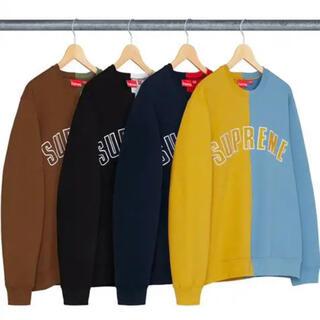 Supreme - 18aw supreme Split crewneck sweatshirt