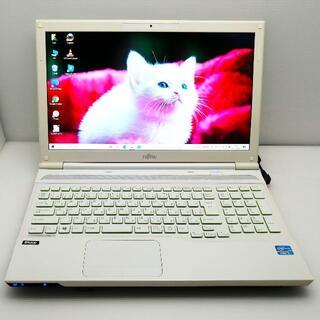 フジツウ(富士通)のノートパソコン 富士通 ブルーレイ 大容量HDD Win10(ノートPC)