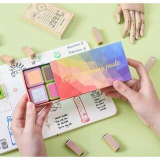 【新品】カラーバリエーション豊富16色スタンプ台(ハンコ インク)