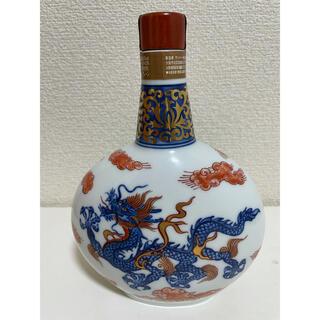 サントリー - SUNTORY 有田焼 染錦雲龍文変型瓶 陶器ボトル 1300g