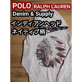 Denim & Supply Ralph Lauren - ポロラルフローレン デニサプ スウェット パーカー インディアン ネイティブ柄