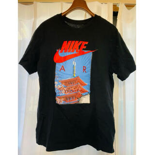 NIKE - NIKE AIR 和風 五重塔 Tシャツ Lサイズ ブラック