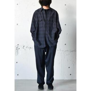 COMOLI - comoli 21aw ウールシルクワークシャツ サイズ3