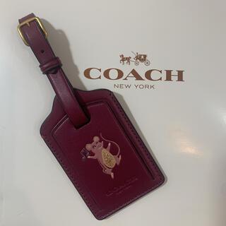コーチ(COACH)の【残り1点】COACH コーチ 正規品 ネームプレート(名札) ネズミ 新品(旅行用品)