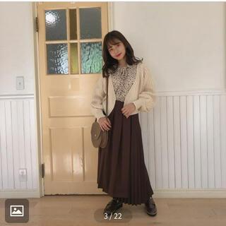 ワンアフターアナザーナイスクラップ(one after another NICE CLAUP)のmellowneon ダークチョコプリーツスカート(ロングスカート)