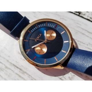 フルラ(Furla)の美品 FURLA フルラ レディース クォーツ 時計 ブルー(腕時計)