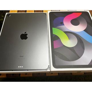 Apple - iPad Air4 スペースグレー 美品 SIMフリー Apple